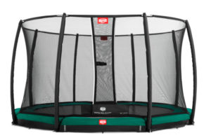 BERG Trampolin Inground Champion 430 mit Sicherheitsnetz Deluxe