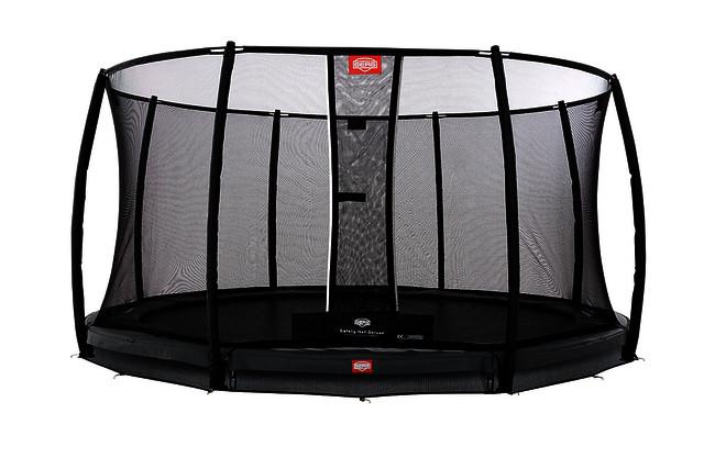 Spielzeug für draußen BERG Trampolin InGround Champion Grey 330 Sicherheitsnetz Comfort