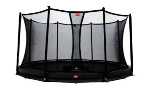 BERG Trampolin Inground Champion grau 430 mit Sicherheitsnetz Comfort
