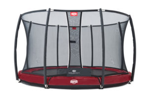 Berg Trampolin Inground Elite rot 330 mit Sicherheitsnetz T-Serie