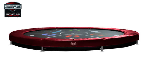 Berg Trampolin Sports Inground Elite Tattoo red 430