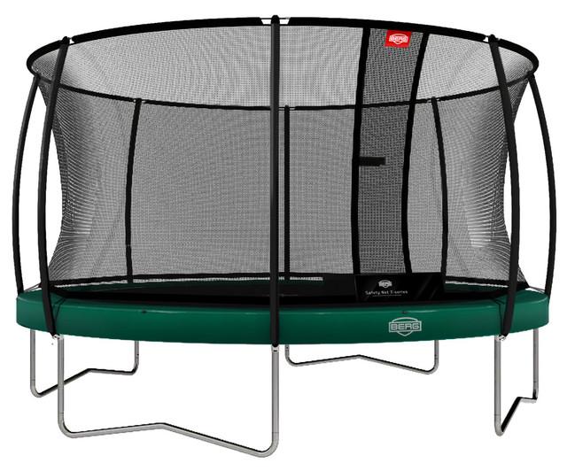 berg trampolin elite gr n 430 cm mit sicherheitsnetz t serie. Black Bedroom Furniture Sets. Home Design Ideas